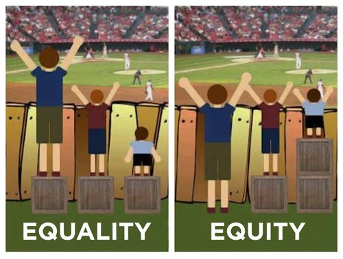 Equality doesnt mean Equity